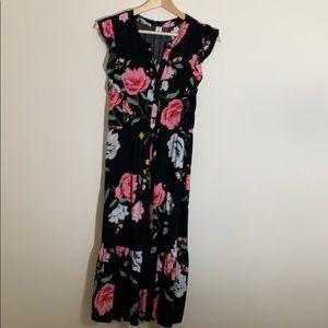 Old Navy Dresses - NEW OLD NAVI FLORAL CAP SLEEVE DRESS BLACK XS